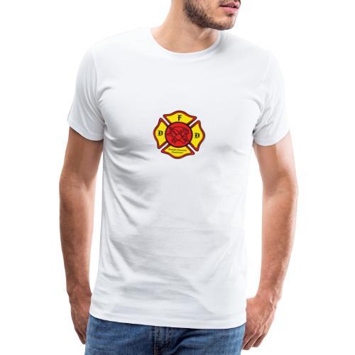 Feuerwehrschild Deutsch - Männer Premium T-Shirt