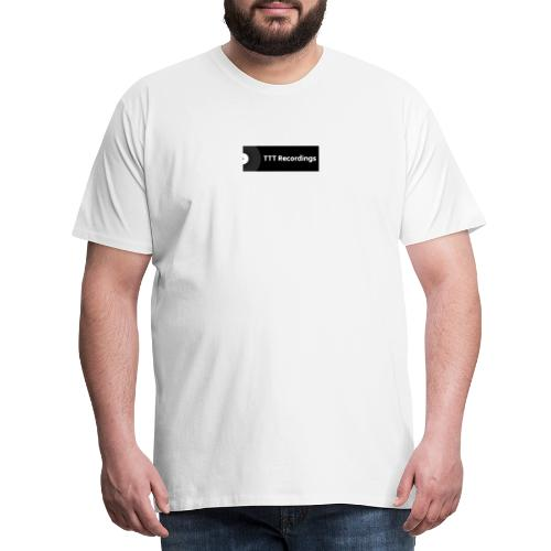 TTT Recordings Box Logo - Premium T-skjorte for menn