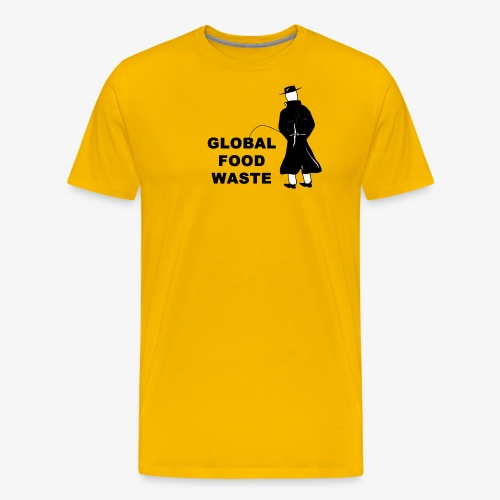 Pissing Man against Global Food Waste - Männer Premium T-Shirt