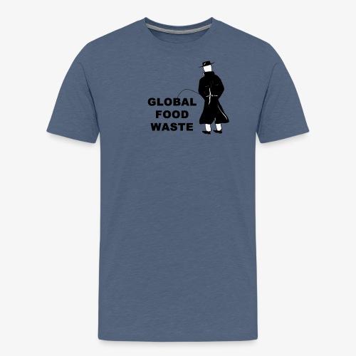 Pissing Man against Global Food Waste - Männer Premium T-Shirt