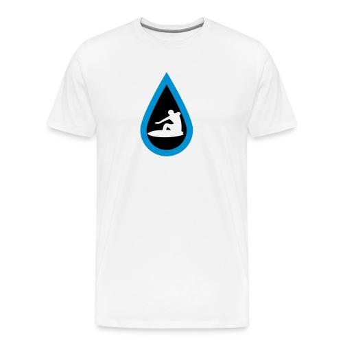 Surfing Waves in Rain - Männer Premium T-Shirt