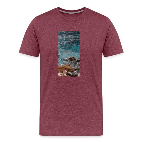 iPhone 4/4s Hard Case mit Wellenmotiv - Männer Premium T-Shirt
