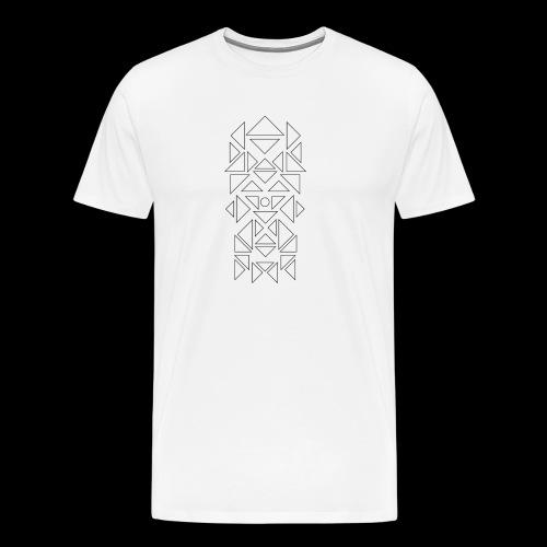 Triangles Pattern - Mannen Premium T-shirt