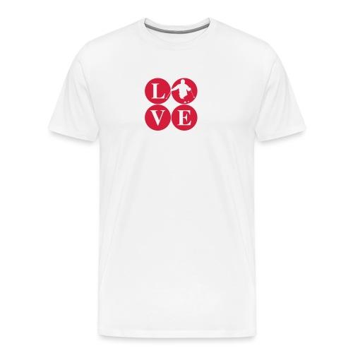 LoVE Ski Powder - Männer Premium T-Shirt