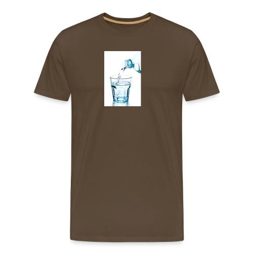 Glas-water-jpg - Mannen Premium T-shirt