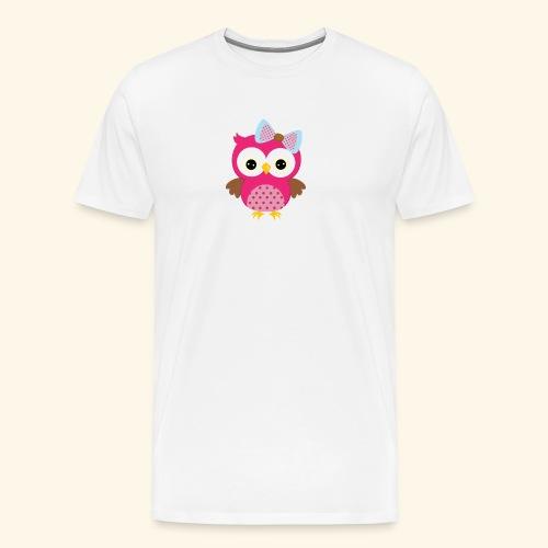Girly Owl - Men's Premium T-Shirt