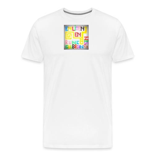 en liten en jpg - Premium T-skjorte for menn
