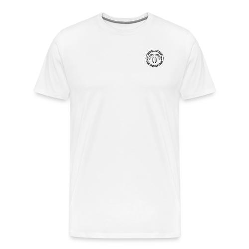 RamSkull Apparell Black long sleeve baseball tee - Men's Premium T-Shirt
