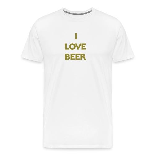 I LOVE BEER - Maglietta Premium da uomo