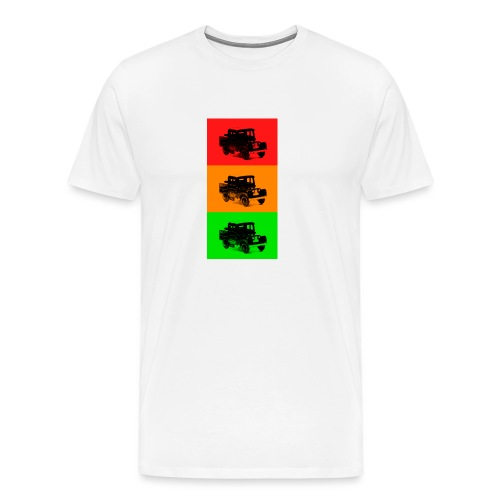 Retro Land-Rover - Men's Premium T-Shirt