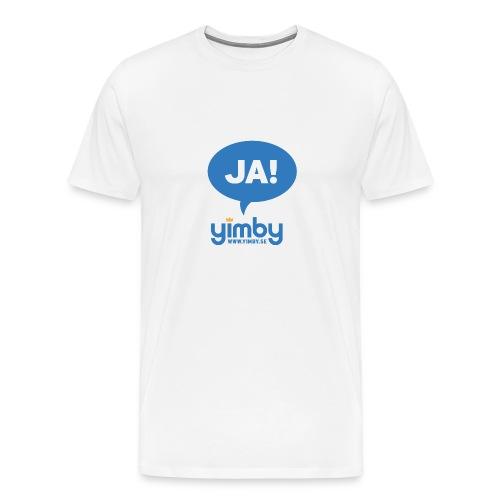 Yimby.se-logotyp med JA! - Premium-T-shirt herr