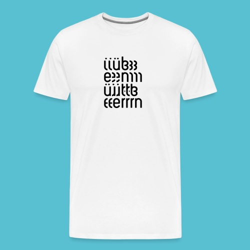 üben (weiss) - Männer Premium T-Shirt