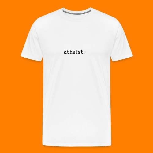atheist BLACK - Men's Premium T-Shirt