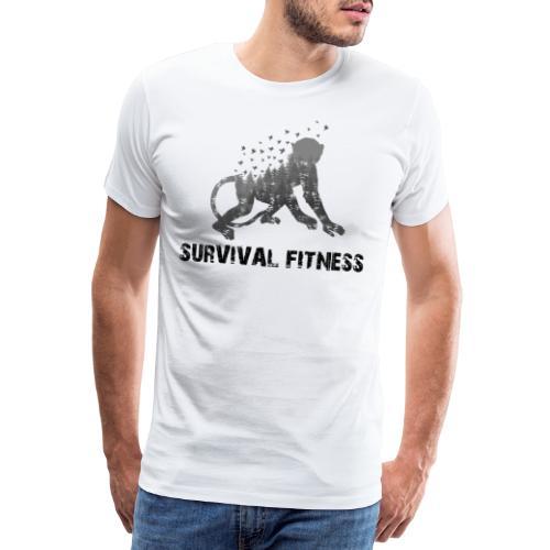 Survival Fitness Logo Schwarz - Männer Premium T-Shirt