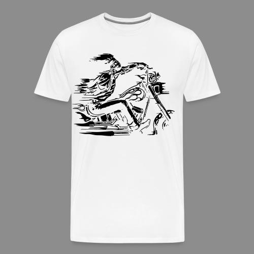 Motorcycle Skull - Camiseta premium hombre