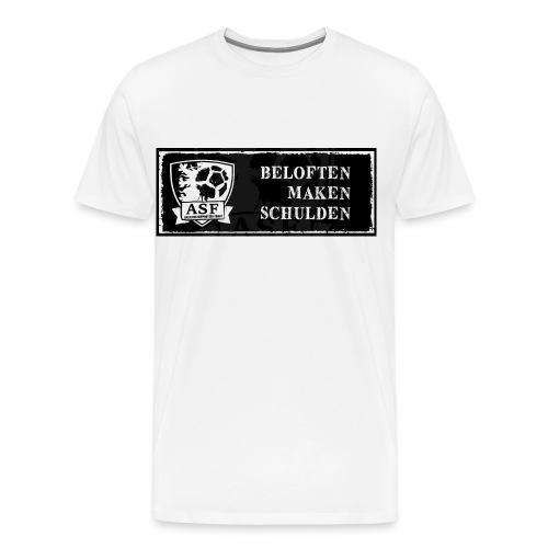 Banner actie 'Beloften maken schulden' - Mannen Premium T-shirt