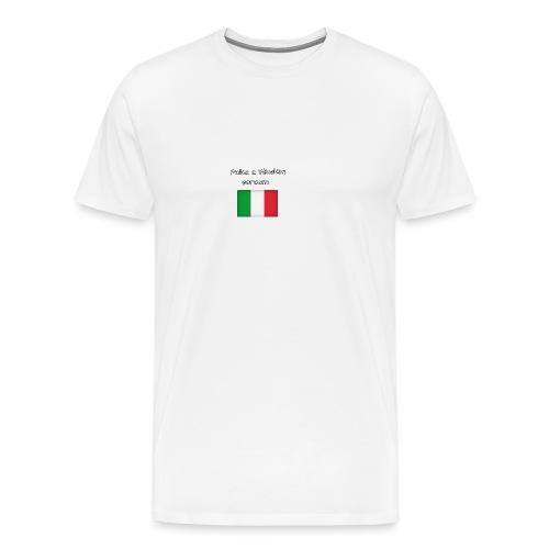 Włosko-polska - Koszulka męska Premium