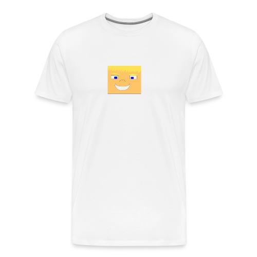 WolfHD RealLife Face in Minecarft - Premium T-skjorte for menn