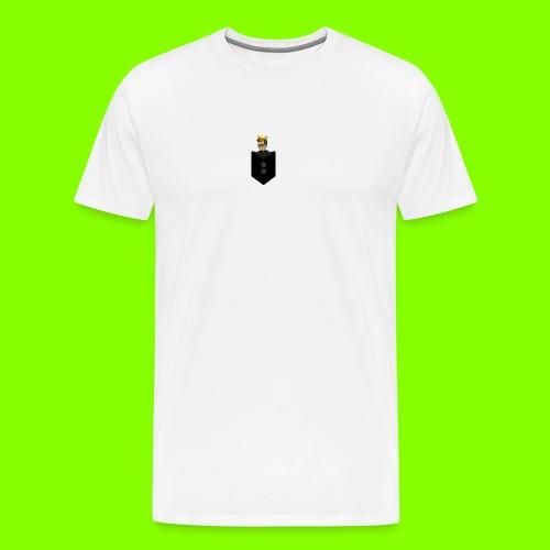 T-Shirt De Cor Dupla c/ Bolso - Men's Premium T-Shirt