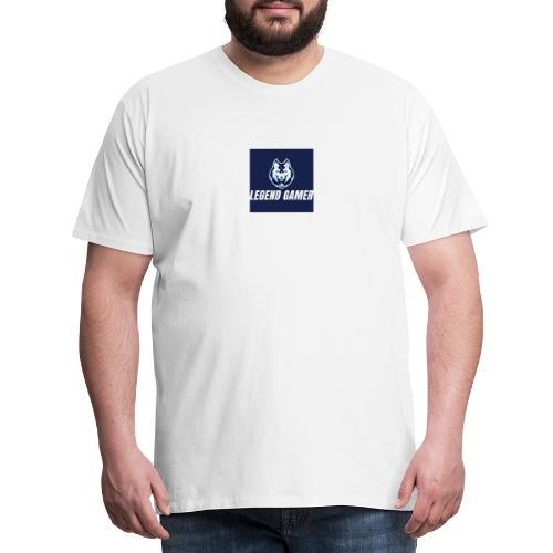 122468660 187966263 legend gamer - Herre premium T-shirt