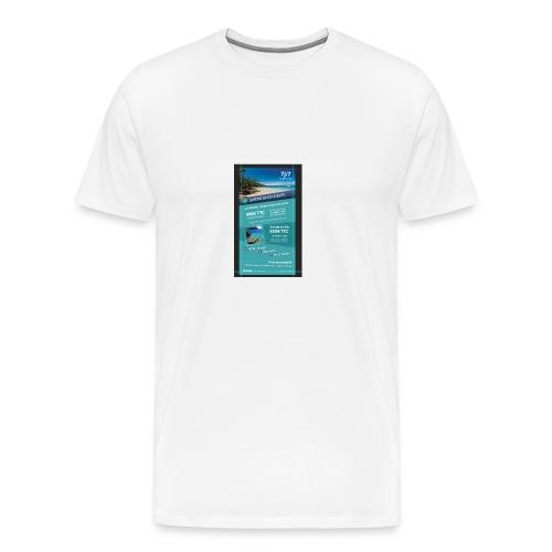 flyer verso - T-shirt Premium Homme