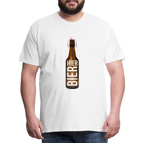 Hier Bier - Shirt - Männer Premium T-Shirt