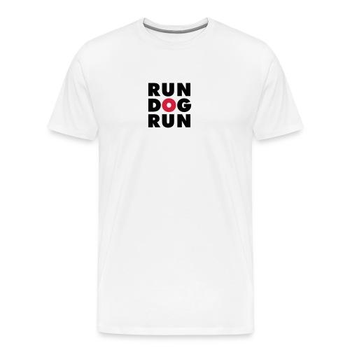 RDR logo svrt red - Premium T-skjorte for menn