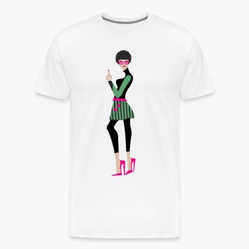 mujer_falda_afro - Camiseta premium hombre