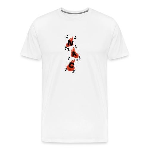 Karten Logo Senkrecht png - Männer Premium T-Shirt