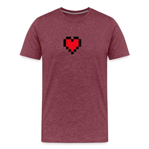 Pixel Heart - Mannen Premium T-shirt
