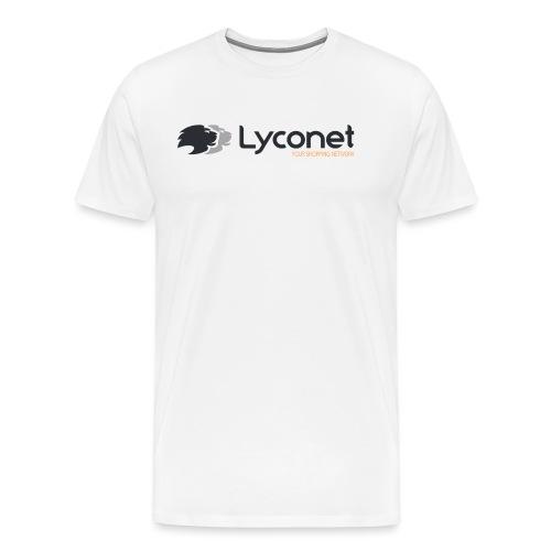 Lyconet White - Maglietta Premium da uomo