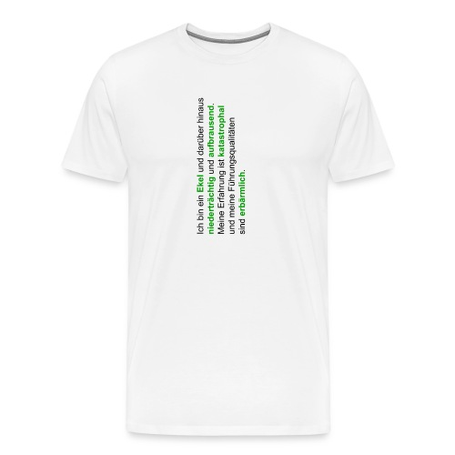 hattrickshirtekel - Männer Premium T-Shirt
