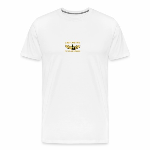Lady Justice Golden Measure - Men's Premium T-Shirt
