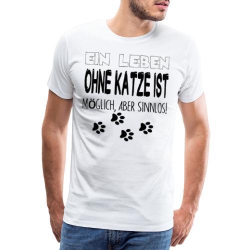 Katzen Katze Geschenk Katzenliebhaber Cat - Männer Premium T-Shirt