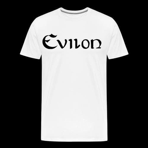 evilonsvart logga - Premium-T-shirt herr