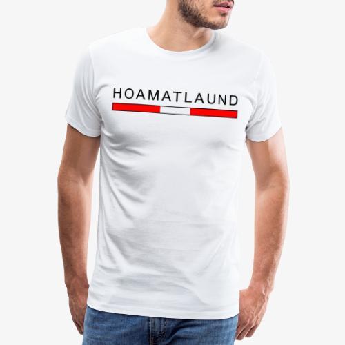 Hoamat mit österreich flagge - Männer Premium T-Shirt