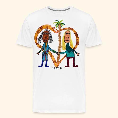 LeniT BFF - Miesten premium t-paita