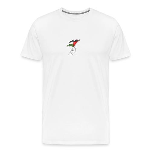 Hvid hættetrøje - Herre premium T-shirt
