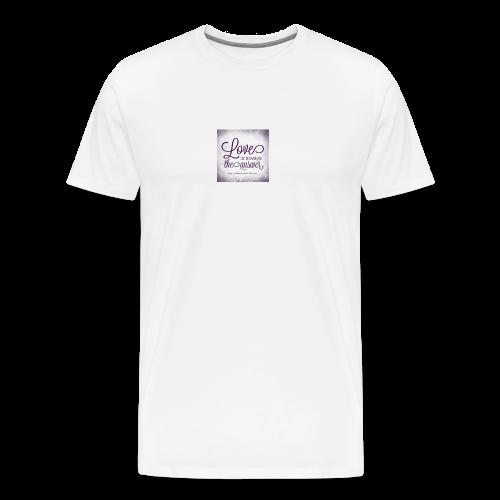 lång är mad tröja - Premium-T-shirt herr