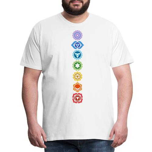 The 7 Chakras, Energy Centres Of The Body - Men's Premium T-Shirt