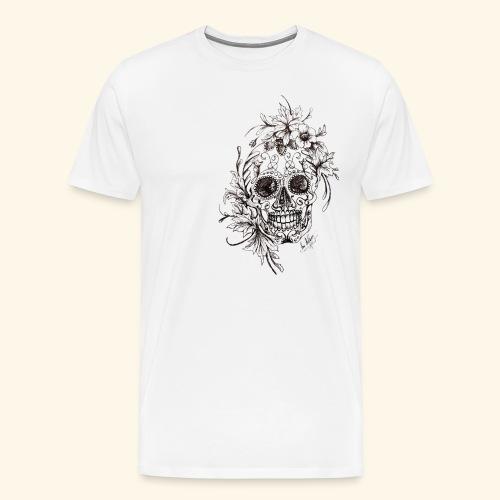 SkullDrawings - Premium-T-shirt herr