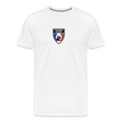 Ecusson noir maitre-chien rottweiller - T-shirt Premium Homme