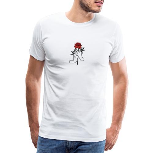Fiore rosso - Maglietta Premium da uomo