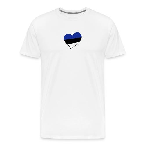 BB W Heart White - Men's Premium T-Shirt