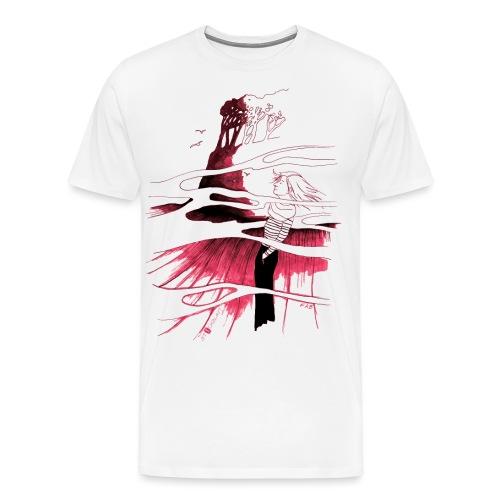 Ein Ort (rot) - Männer Premium T-Shirt