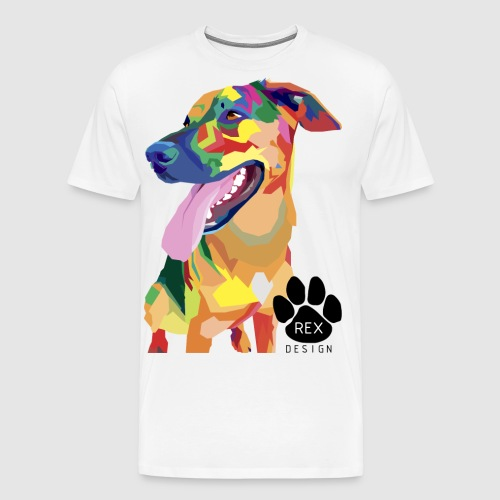 Big Tongue Dog - Men's Premium T-Shirt