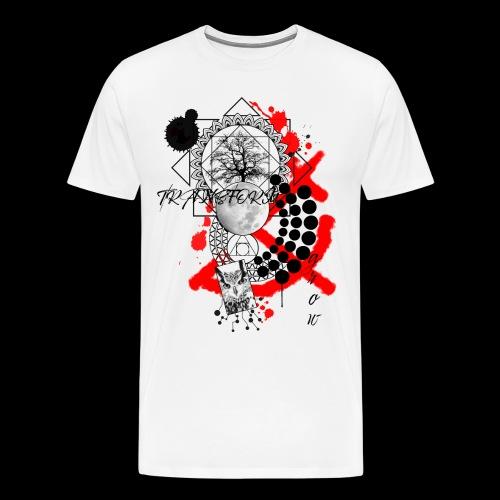 Transfrom and Grow Trash Polka Owl Tree - Men's Premium T-Shirt