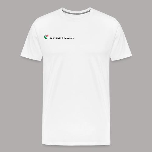 Wappenbanner, schwarz(vorne)Zirkel,schwarz(hinten) - Männer Premium T-Shirt