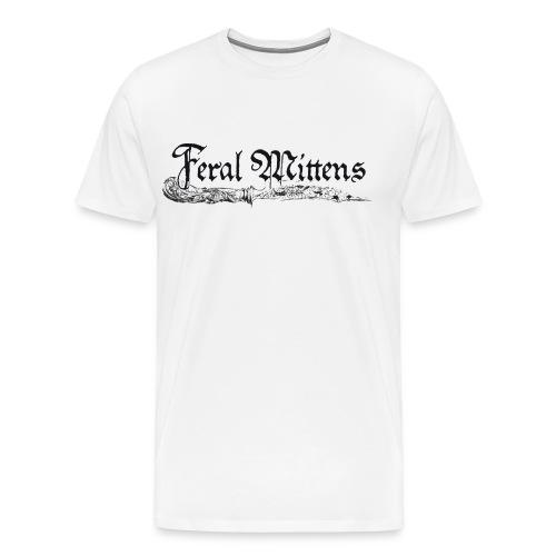 Feral Mittens Logo - Herre premium T-shirt