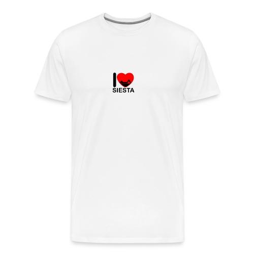 I love siesta - Camiseta premium hombre